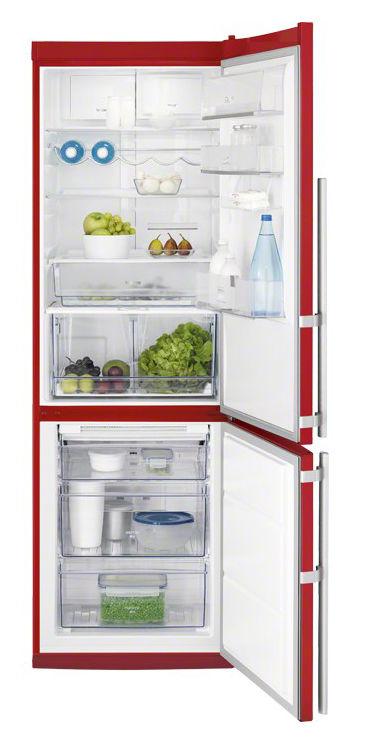 Холодильник ELECTROLUX EN3487AOH,  двухкамерный,  красный
