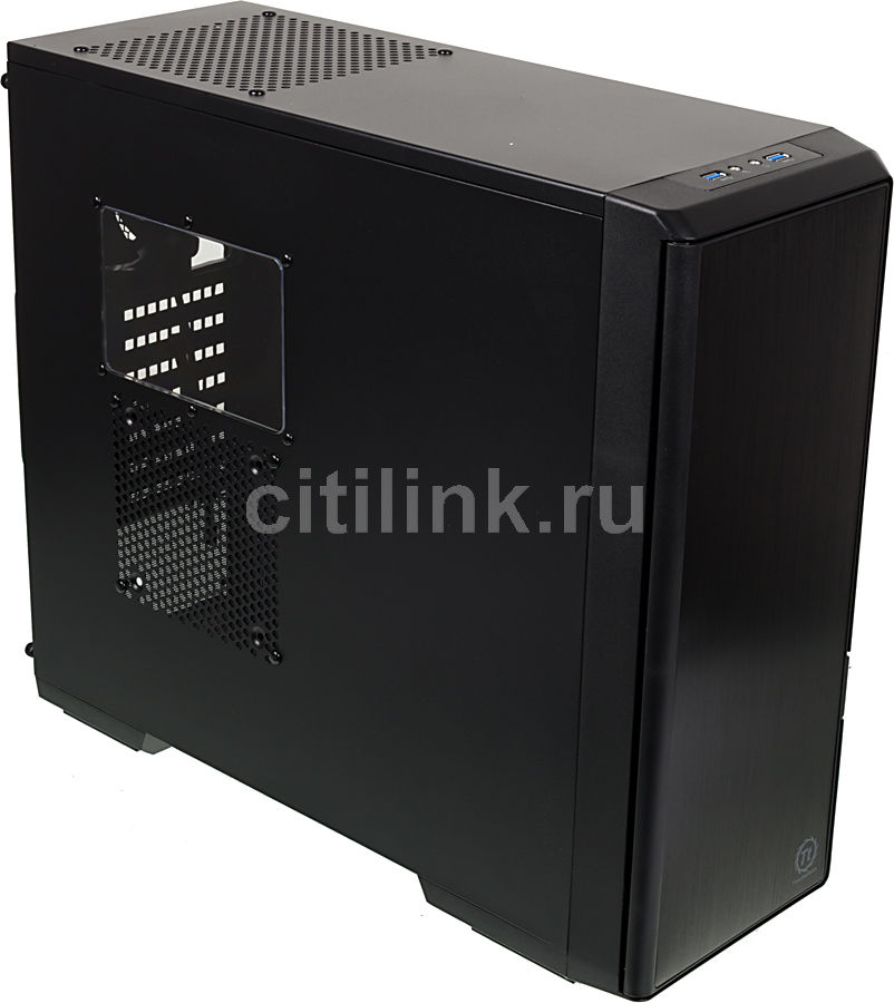 Корпус ATX THERMALTAKE Urban T21 CA-1A4-00M1WN-00, Midi-Tower, без БП,  черный