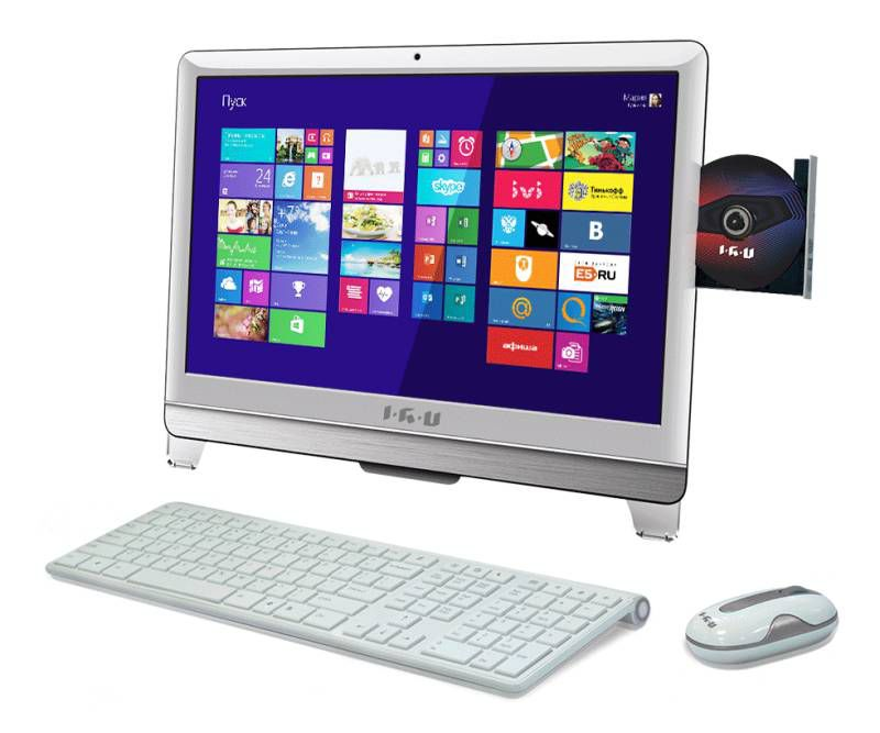 Моноблок IRU 310, Intel Core i3 3240, 4Гб, 500Гб, Intel HD Graphics, DVD-RW, Windows 8.1, белый