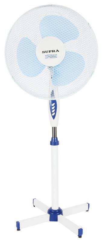 Вентилятор напольный SUPRA VS-1614R,  белый и синий
