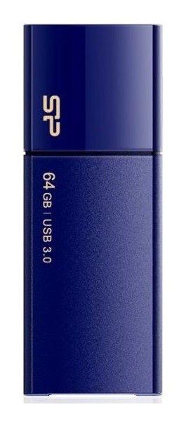 Флешка USB SILICON POWER Blaze B05 64Гб, USB3.0, синий [sp064gbuf3b05v1d]