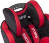 Автокресло детское SPARCO F 700 K, 1/2/3, черный/красный [spc/dk-300 bk/rd] вид 6