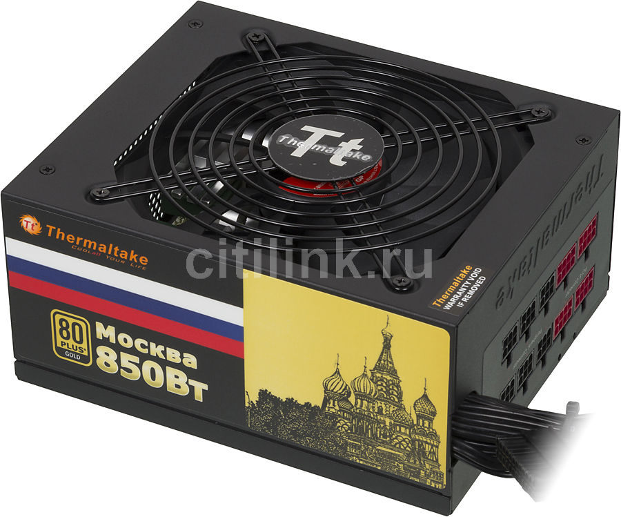 Блок питания THERMALTAKE MOSCOW W0428,  850Вт,  135мм,  черный, retail