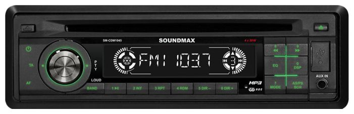 Автомагнитола SOUNDMAX SM-CDM1045,  USB,  SD/MMC
