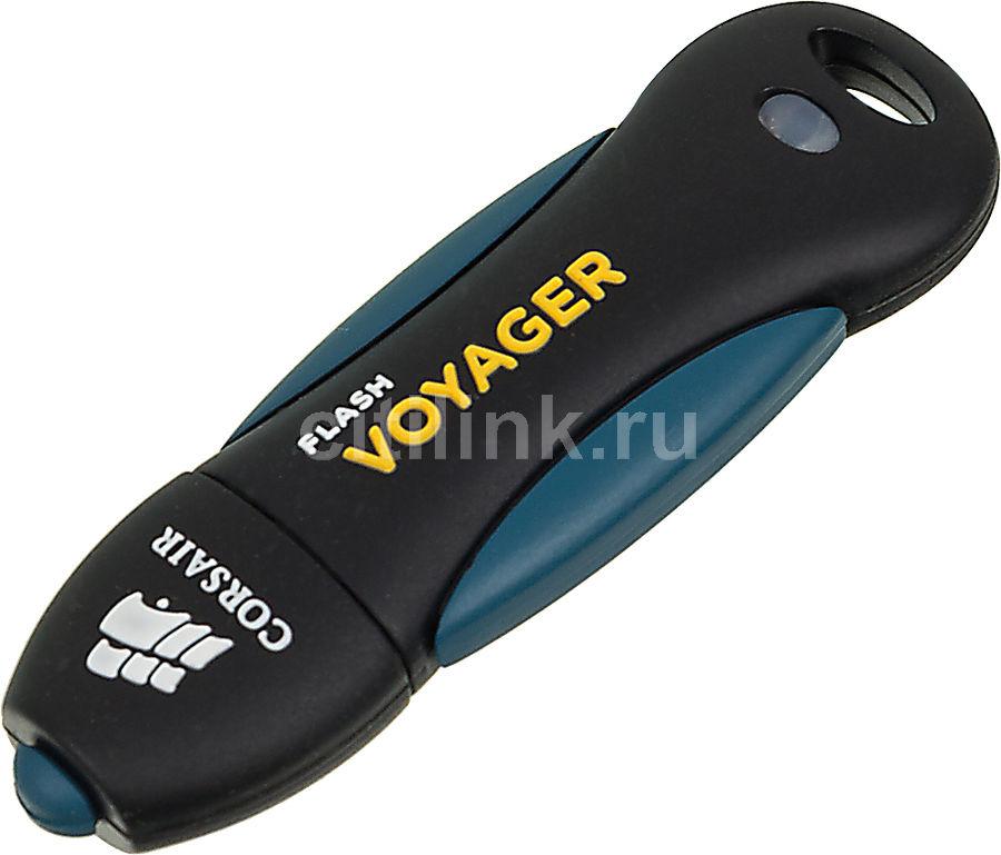 Флешка USB CORSAIR Voyager 8Гб, USB2.0, черный и синий [cmfusb2.0-8gb]
