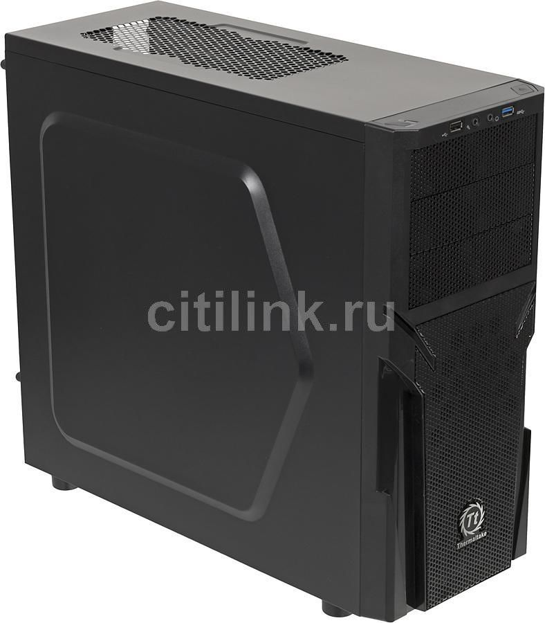 Корпус ATX THERMALTAKE Versa H21, Midi-Tower, без БП, черный процессор intel p4 3 2e 1m 800 3 2g ht 478 cpu 865