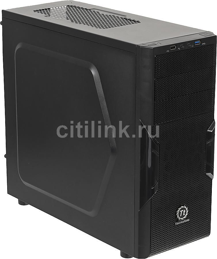 Корпус ATX THERMALTAKE Versa H22, Midi-Tower, без БП,  черный