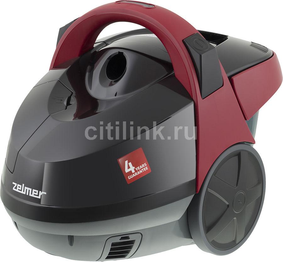 Пылесос ZELMER ZVC722ZK, 1500Вт, черный/красный