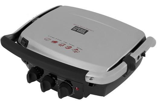 Электрогриль GFGRIL GF-150,  серебристый и черный