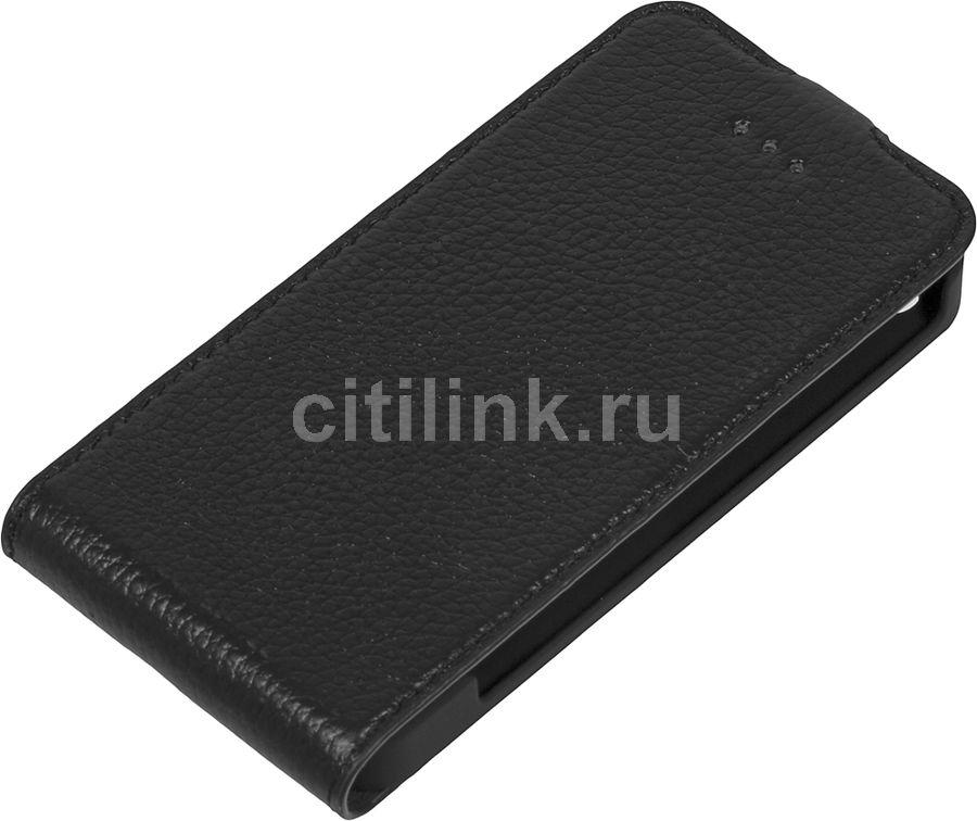Чехол (флип-кейс) DEPPA Flip Cover, 81000, для Apple iPhone 4/4S, черный