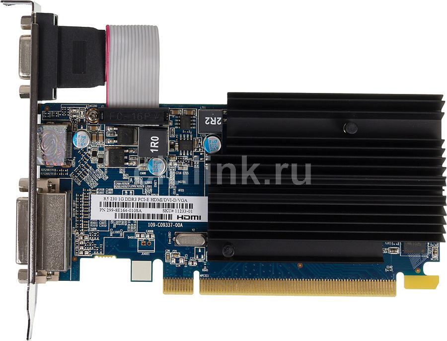 Видеокарта SAPPHIRE Radeon R5 230,  11233-01-10G,  1Гб, DDR3, Low Profile,  oem