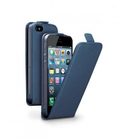 Чехол (флип-кейс) DEPPA Flip Cover, 81020, для Apple iPhone 5/5S, синий