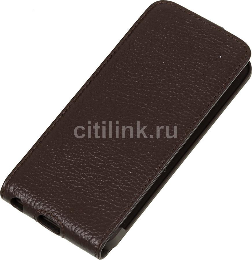 Чехол (флип-кейс) DEPPA Flip Cover, 81021, для Apple iPhone 5/5S, коричневый