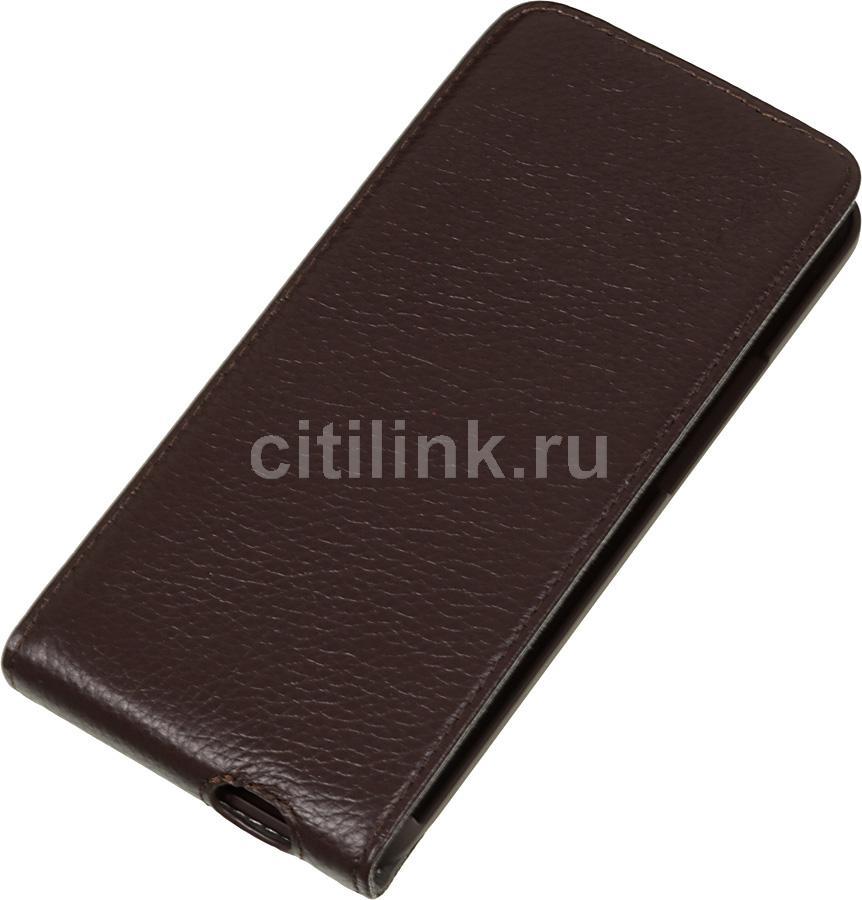 Чехол (флип-кейс) DEPPA Flip Cover, 81016, для HTC One, коричневый