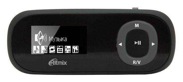MP3 плеер RITMIX RF-3400 flash 16Гб черный [15117104]