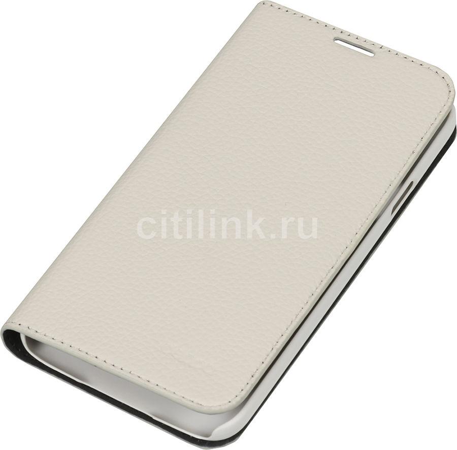 Чехол (флип-кейс) DEPPA Wallet Cover, 84026, для Samsung Galaxy S5, белый