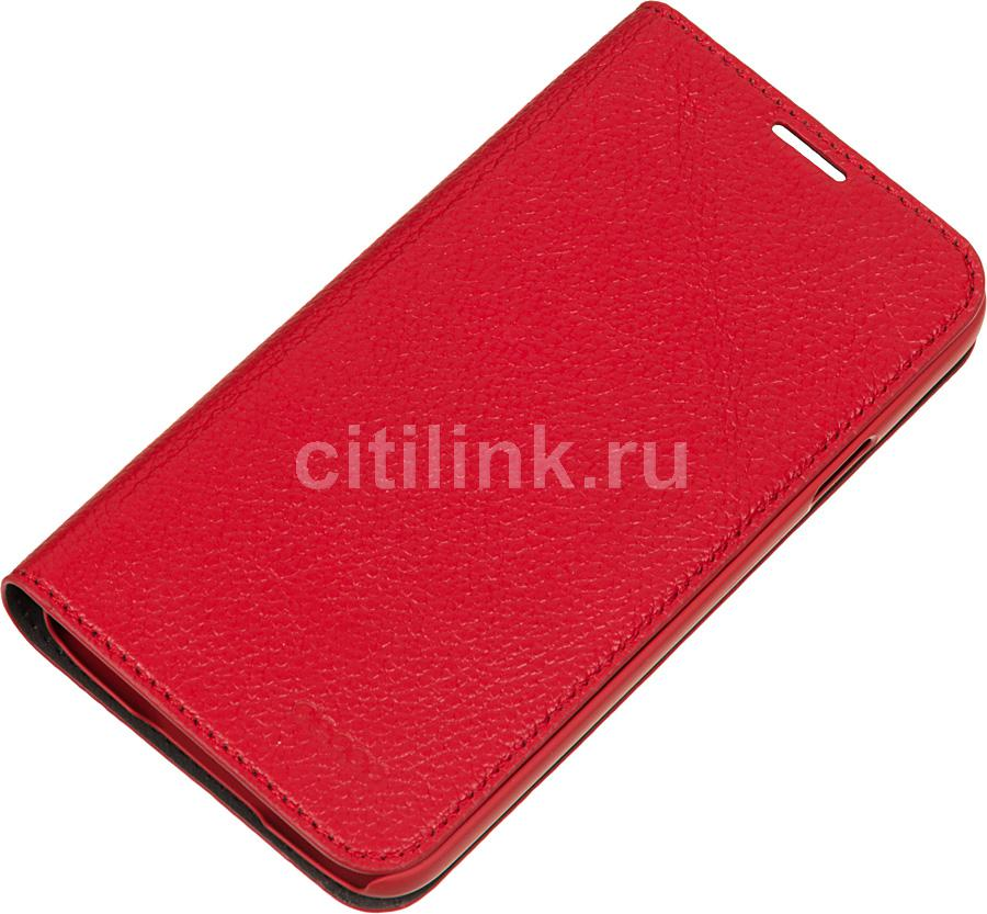 Чехол (флип-кейс) DEPPA Wallet Cover, 84030, для Samsung Galaxy S5, красный