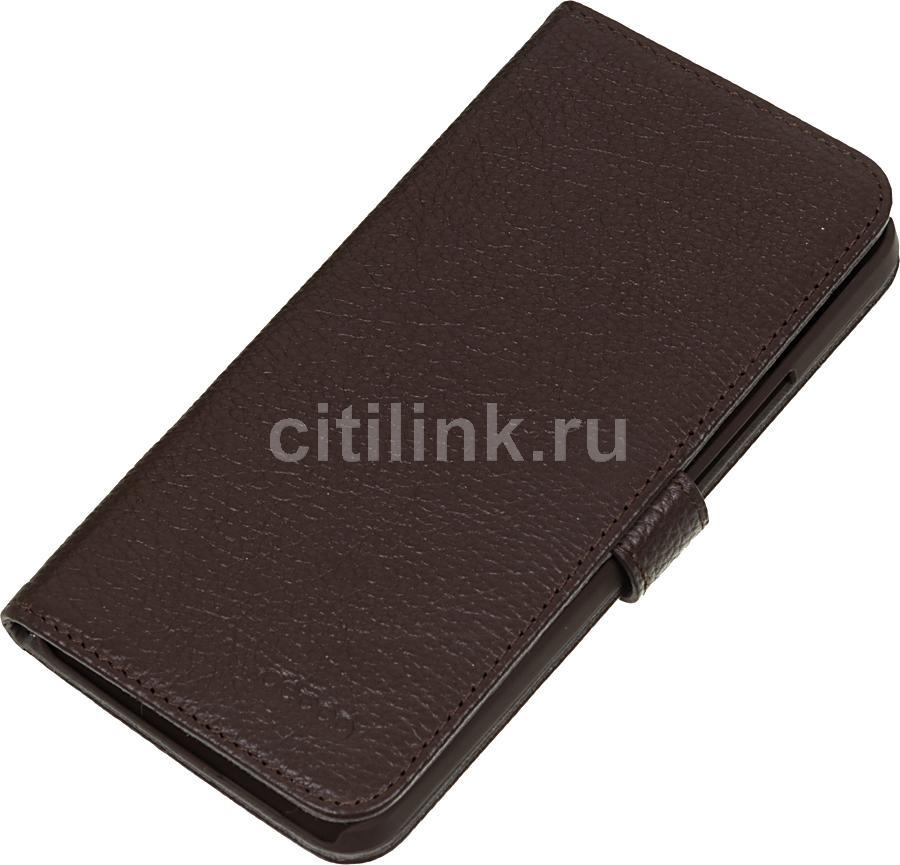 Чехол (флип-кейс) DEPPA Wallet Cover, 84014, для HTC One, коричневый