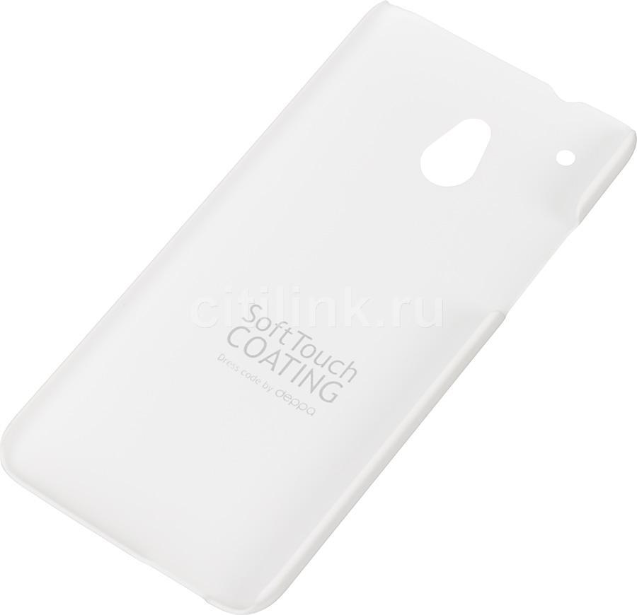 Чехол (клип-кейс) DEPPA Air Case, 83042, для HTC One mini, белый
