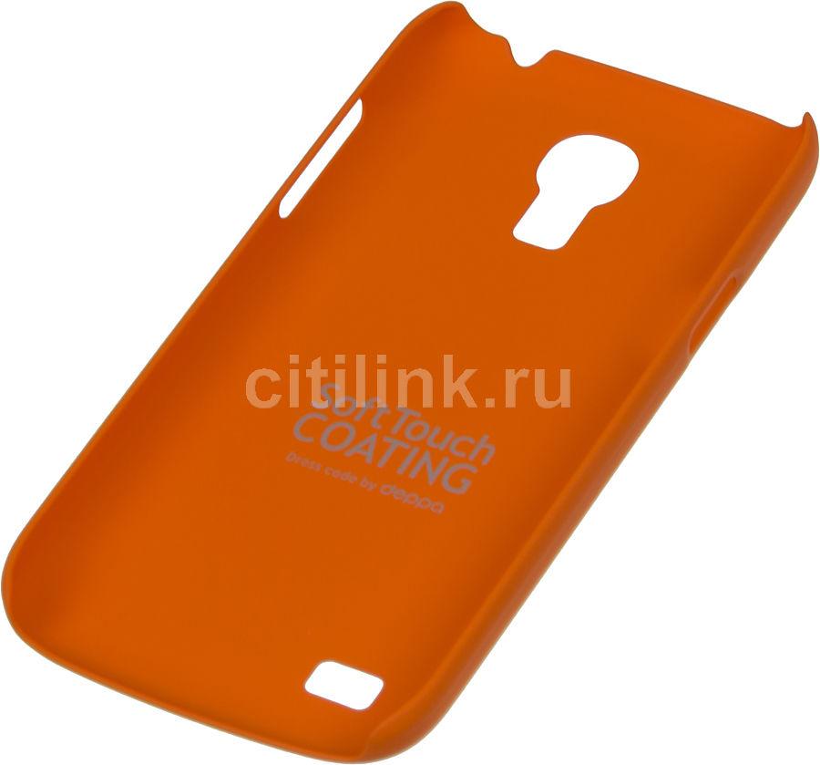 Чехол (клип-кейс) DEPPA Air Case, 83032, для Samsung Galaxy S4 mini, оранжевый