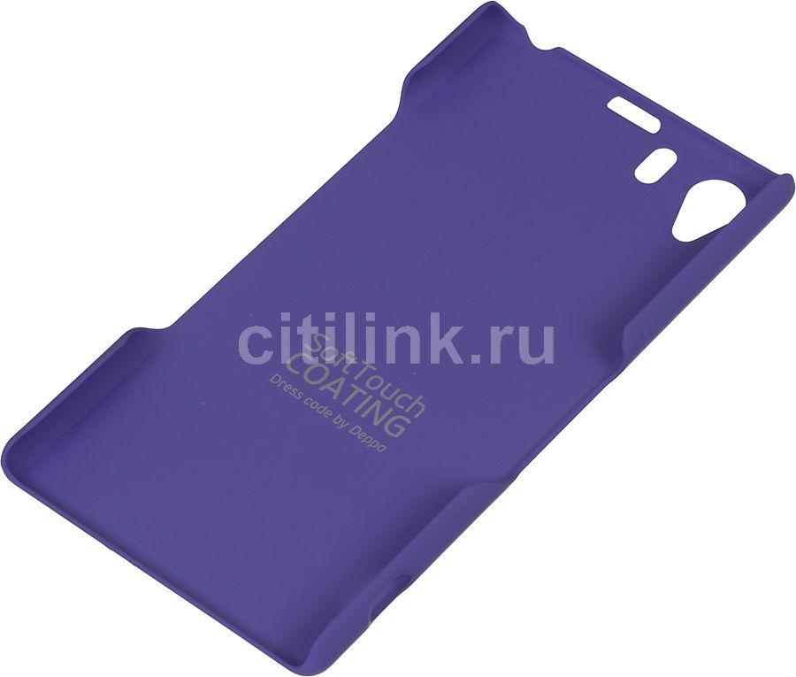 Чехол (клип-кейс) DEPPA Air Case, 83038, для Sony Xperia Z1, фиолетовый