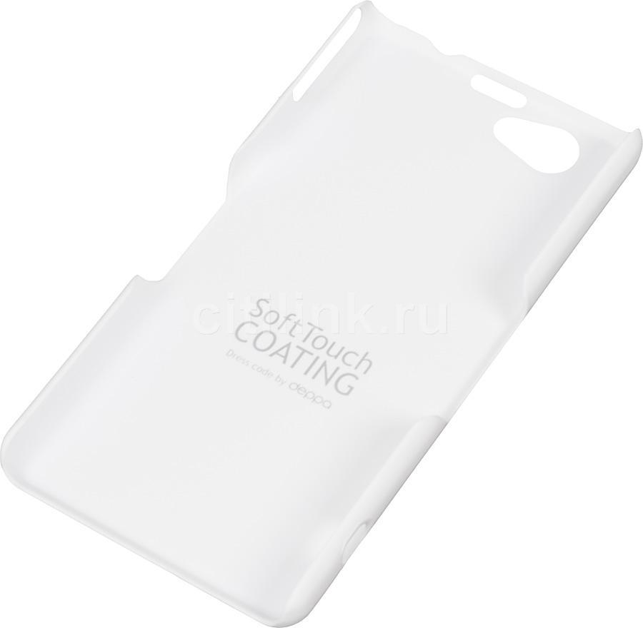 Чехол (клип-кейс) DEPPA Air Case, 83050, для Sony Xperia Z1 Compact, белый
