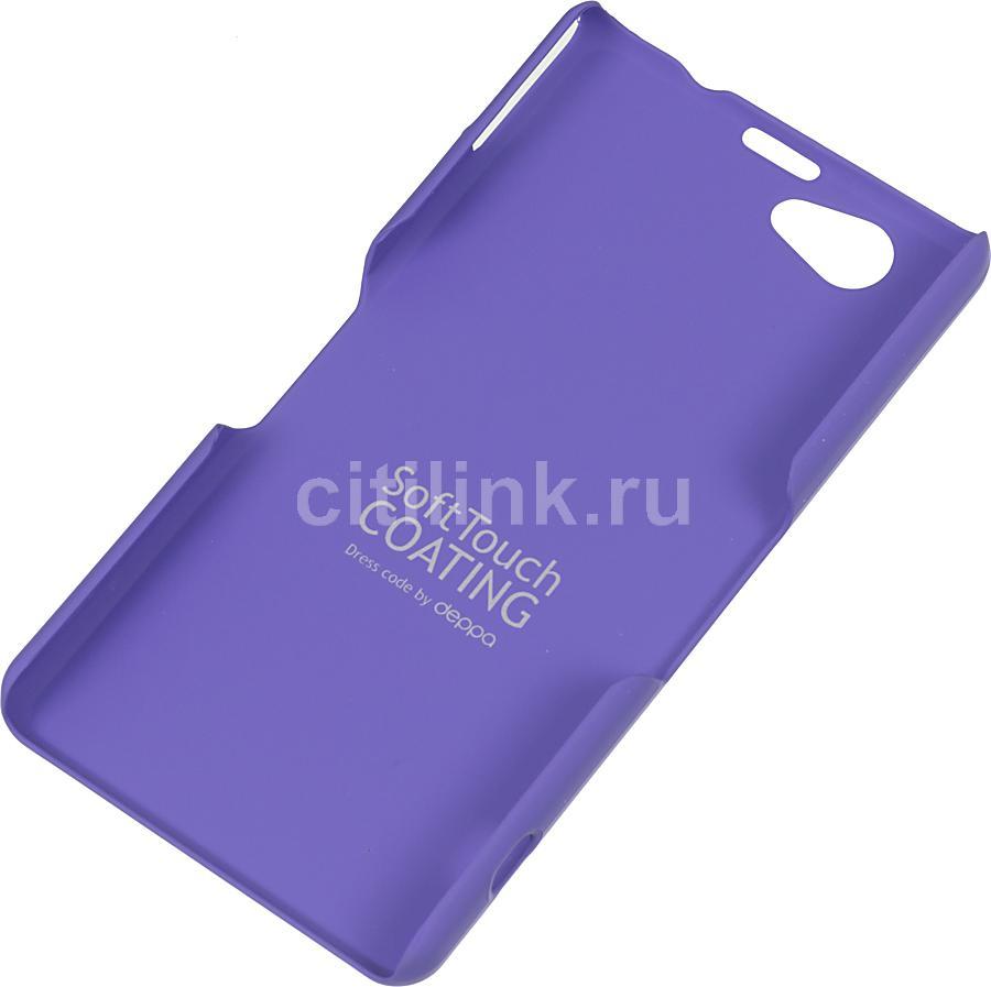 Чехол (клип-кейс) DEPPA Air Case, 83052, для Sony Xperia Z1 Compact, фиолетовый