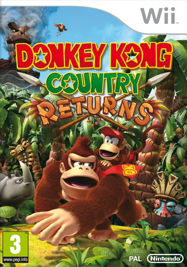 Игра NINTENDO Donkey Kong Country Returns для  Wii, Nintendo 3DS Eng