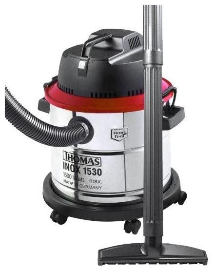 Пылесос THOMAS Inox 1530 PRO, 1500Вт, серебристый/черный