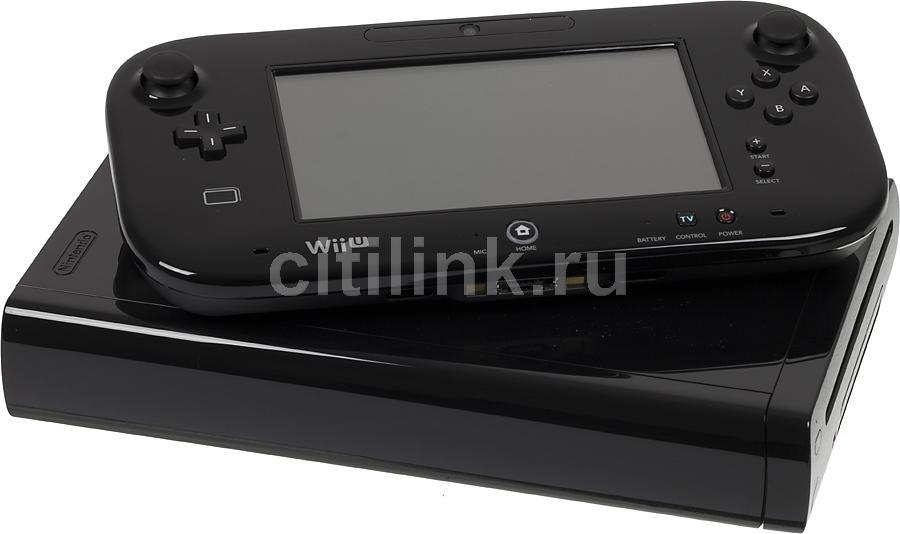 Игровая консоль NINTENDO Wii U 2300036, черный
