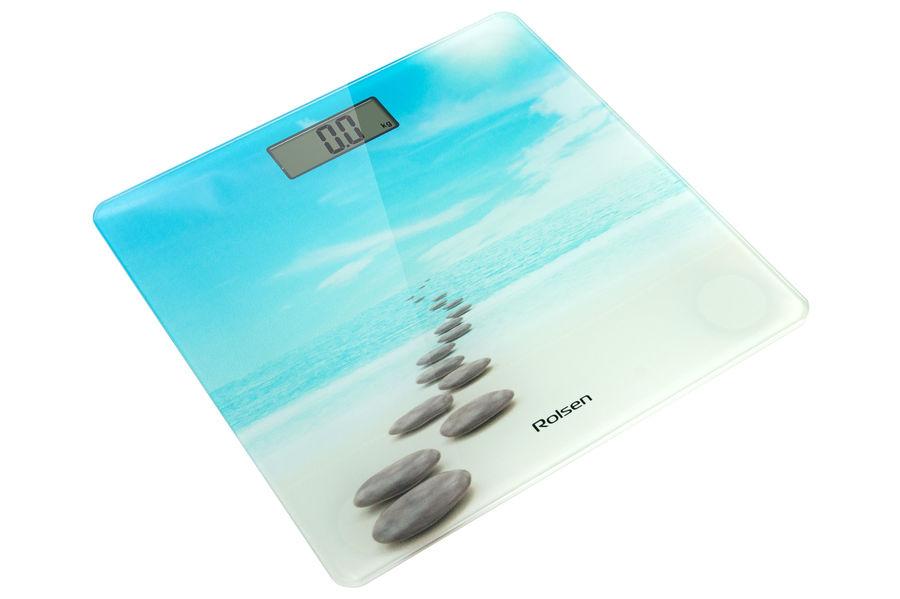 Весы ROLSEN RSL1804 Bliss, до 150кг, цвет: рисунок