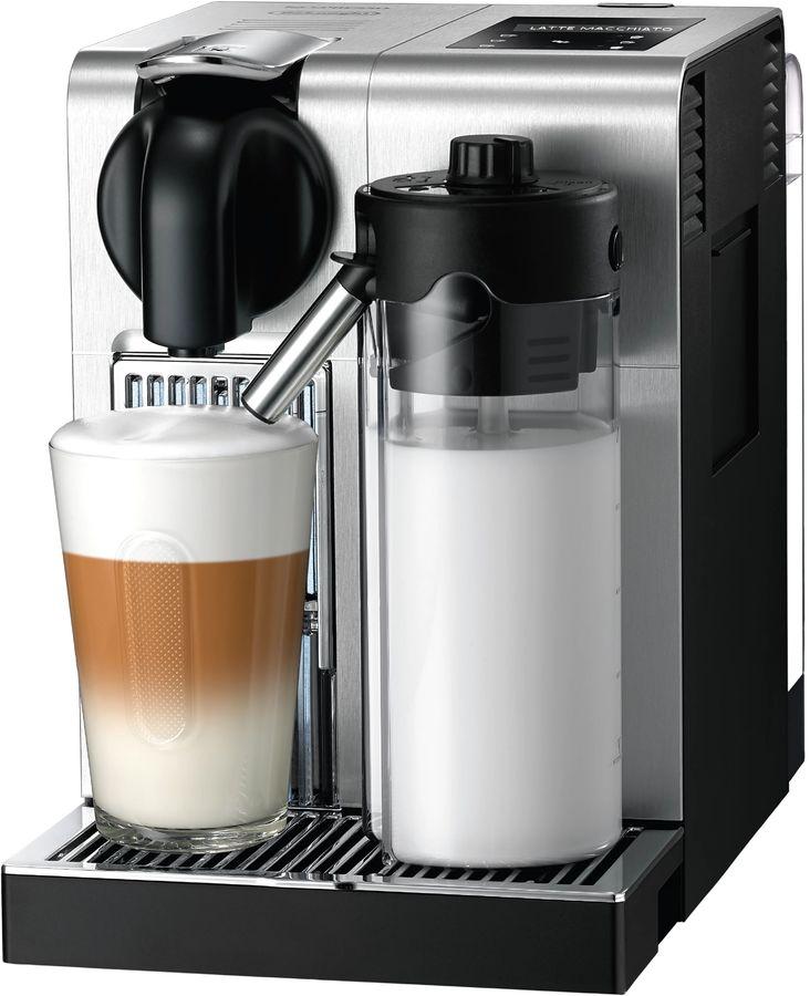 Капсульная кофеварка DELONGHI Nespresso Latissima EN 750.MB Pro, 1400Вт, цвет: серебристый [0132192223]