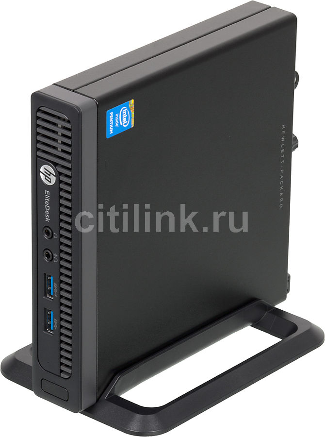 Мини ПК  HP EliteDesk 800 G1,  Intel  Pentium  G3220T,  DDR3 4Гб, 500Гб,  Intel HD Graphics,  Windows 7 Professional,  черный [j4u85es]