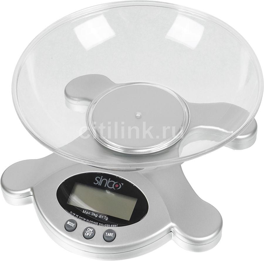 Весы кухонные SINBO SKS 4514,  серебристый