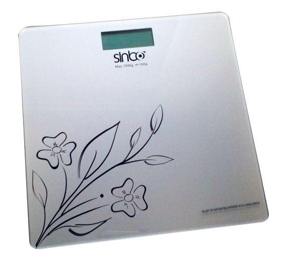Весы SINBO SBS 4421, до 150кг, цвет: голубой/рисунок