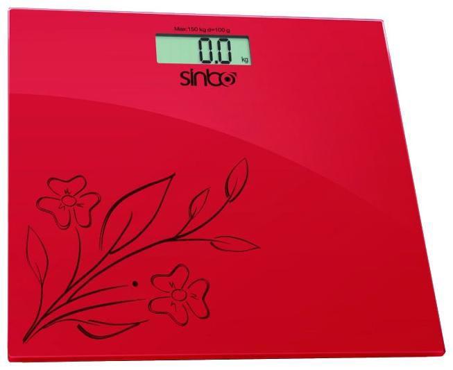 Весы SINBO SBS 4421, до 150кг, цвет: красный