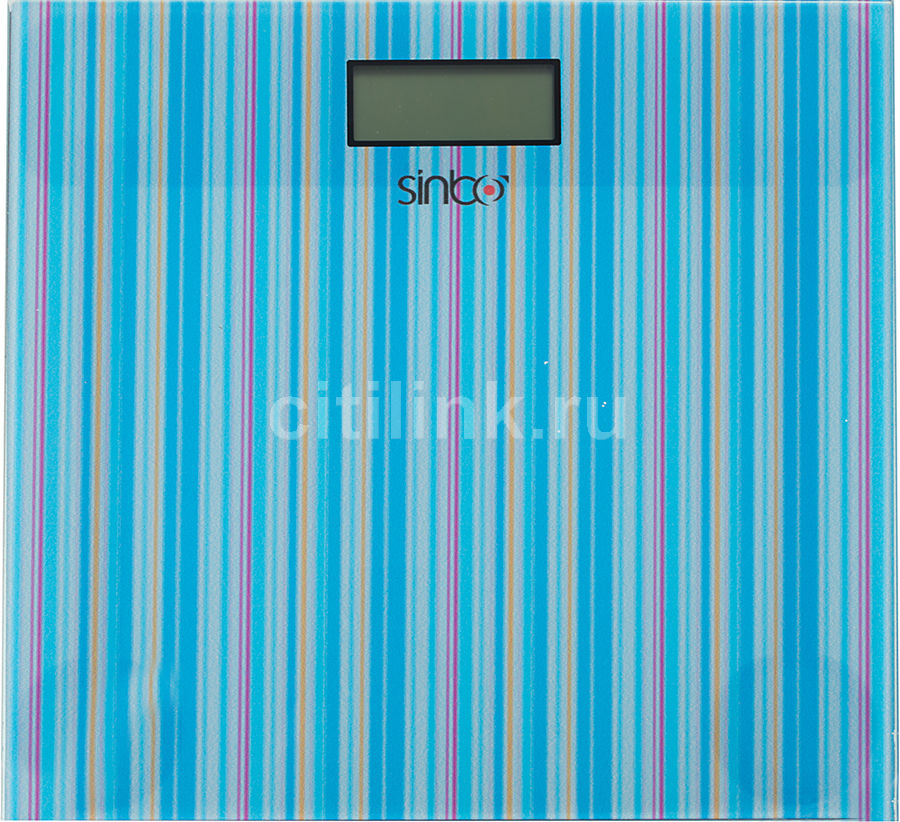 Весы SINBO SBS 4427, до 150кг, цвет: голубой/рисунок