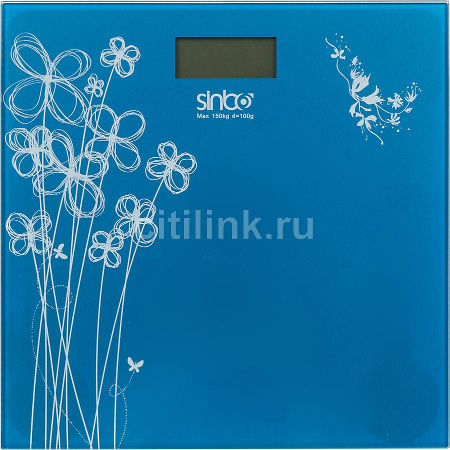 Весы SINBO SBS 4427, до 150кг, цвет: темно-синий