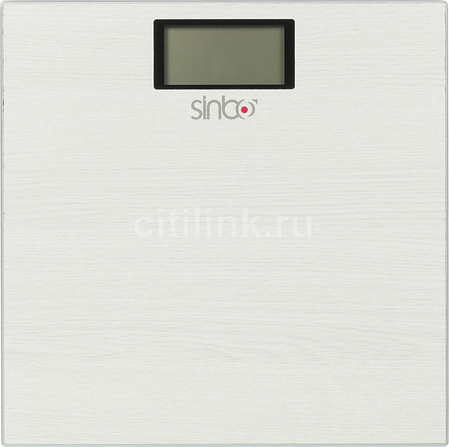 Напольные весы SINBO SBS 4423, до 150кг, цвет: белый
