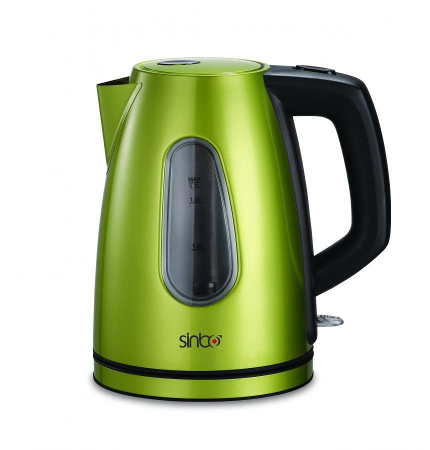 Чайник электрический SINBO SK 7310C, 2200Вт, зеленый