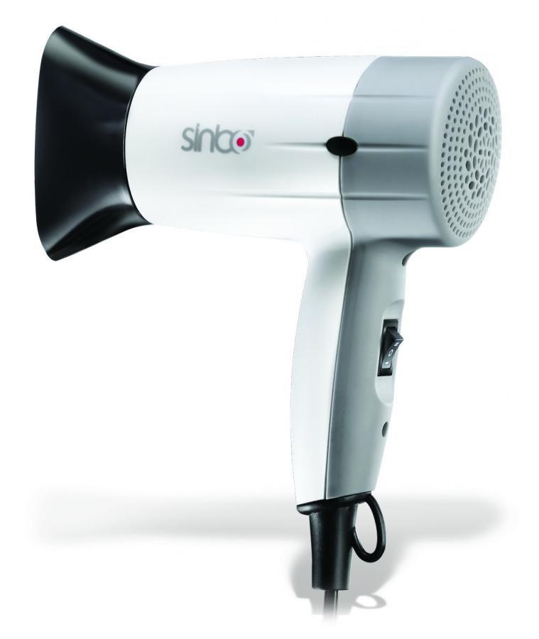 Фен SINBO SHD 2696, 1400Вт, белый и серебристый