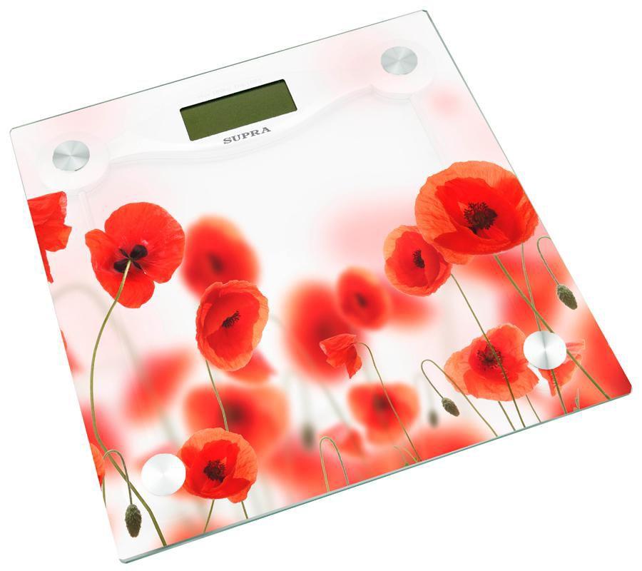 Весы SUPRA BSS-5001 набор, до 180кг, цвет: белый/рисунок