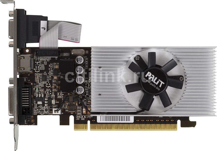 Видеокарта PALIT GeForce GT 730,  PA-GT730-1GD5,  1Гб, GDDR5, Low Profile,  oem [ne5t7300hd06-2081f bulk]