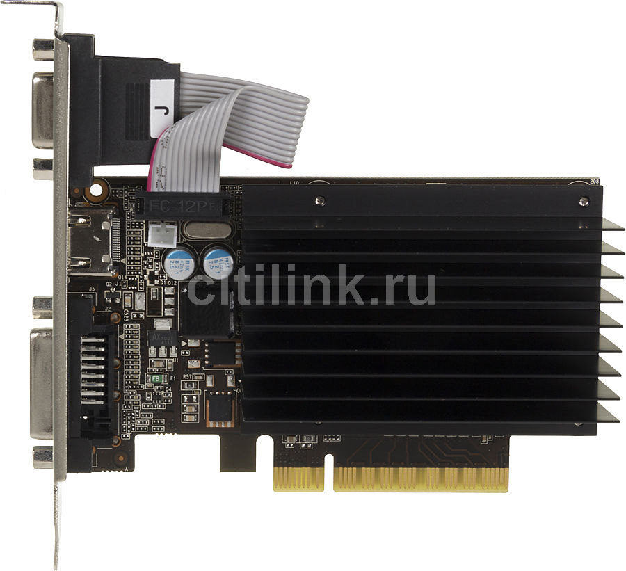 Видеокарта PALIT GeForce GT 730,  NEAT7300HD06-2080H,  1Гб, DDR3, Low Profile,  oem