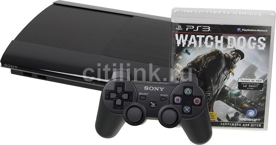 Игровая консоль SONY PlayStation 3 PS719233381, черный