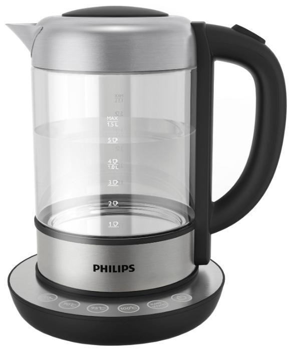 Чайник электрический PHILIPS HD9382/20, 2200Вт, серебристый