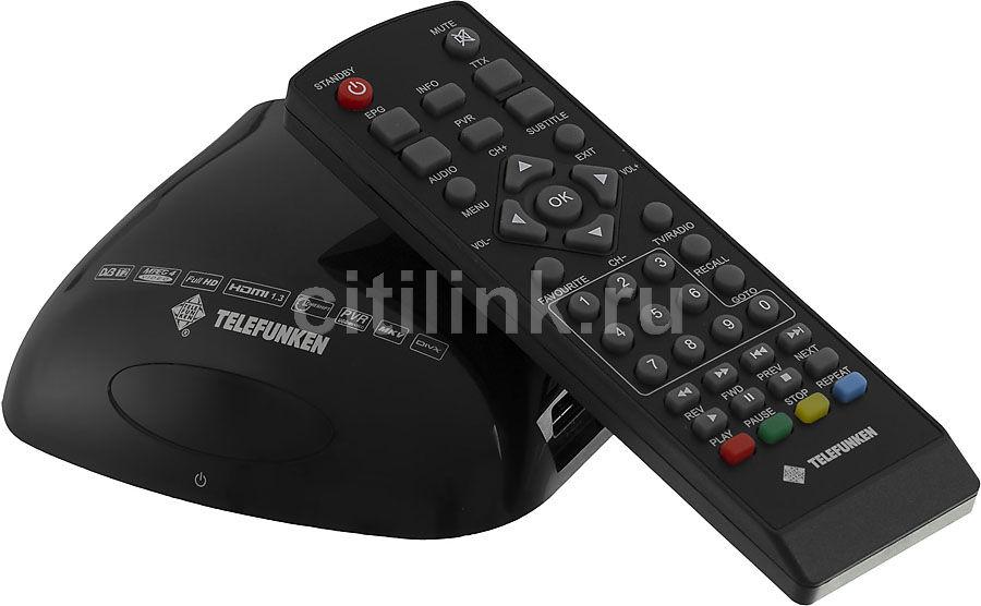 Ресивер DVB-T2 TELEFUNKEN TF-DVBT204,  черный [tf-dvbt204(черный)]