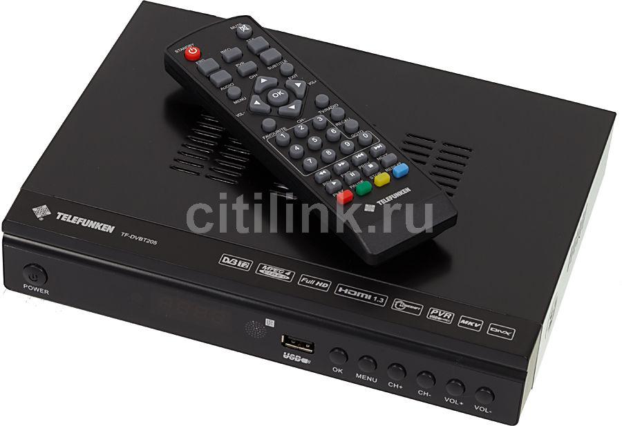 Ресивер DVB-T2 TELEFUNKEN TF-DVBT205,  черный [tf-dvbt205(черный)]