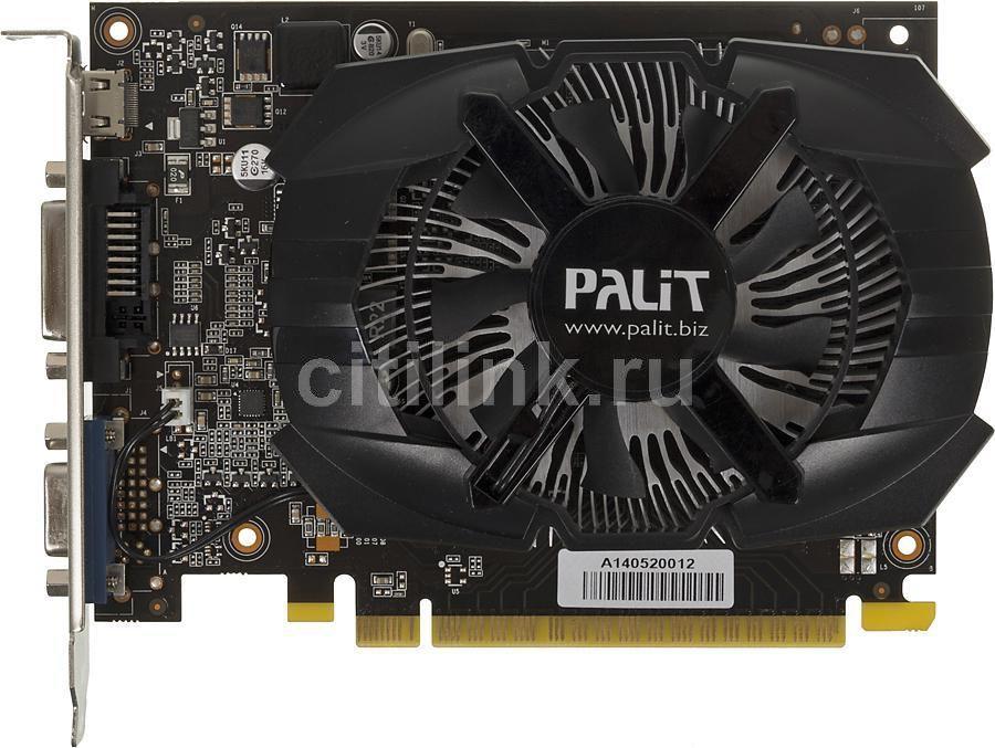 Видеокарта PALIT GeForce GT 740,  PA-GT740-OC-1GD5,  1Гб, GDDR5, OC,  Ret [ne5t740s1301-1073f]