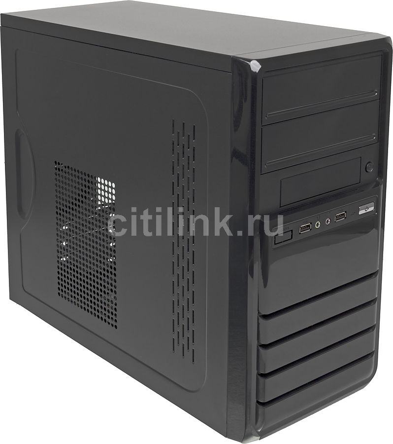 Корпус mATX FORMULA FM-519D, Mini-Tower, 400Вт,  черный